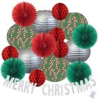 31pcs Peaceful Merry Christmas Paper Lantern Hanging Kit - Premier