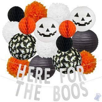 31pcs Scream Here For The Boos Paper Lantern Hanging Kit