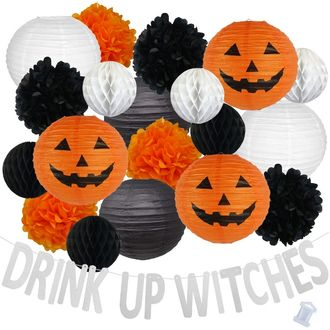 34pcs Classic Drink Up Witches Paper Lantern Hanging Kit