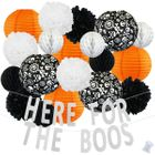 34pcs Eerie Here For The Boos Paper Lantern Hanging Kit