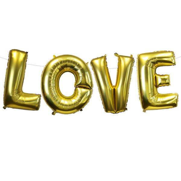 "35"" Foil Mylar Balloon LOVE Gold"