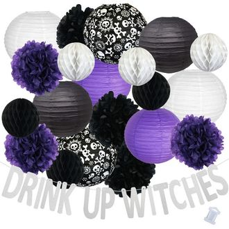 35pcs Wicked Drink Up Witches Paper Lantern Hanging Kit