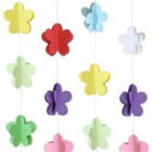 3D Paper Flower Garland Multi- Color 8ft