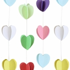 3D Paper Heart Garland Multi-Color 8ft