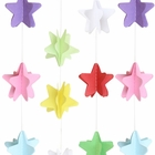 3D Paper Star Garland Multi- Color 8ft