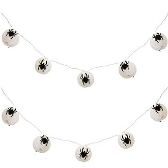 CLEARANCE 3in Spooky Spiders Nylon String Lights
