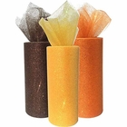 3pc Glitter Tulle Fabric Roll 25-Yards Length x 6-Inch Width (Color: Thanksgiving) - Premier