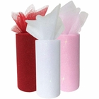 3pc Glitter Tulle Fabric Roll 25-Yards Length x 6-Inch Width (Color: Valentines Day) - Premier