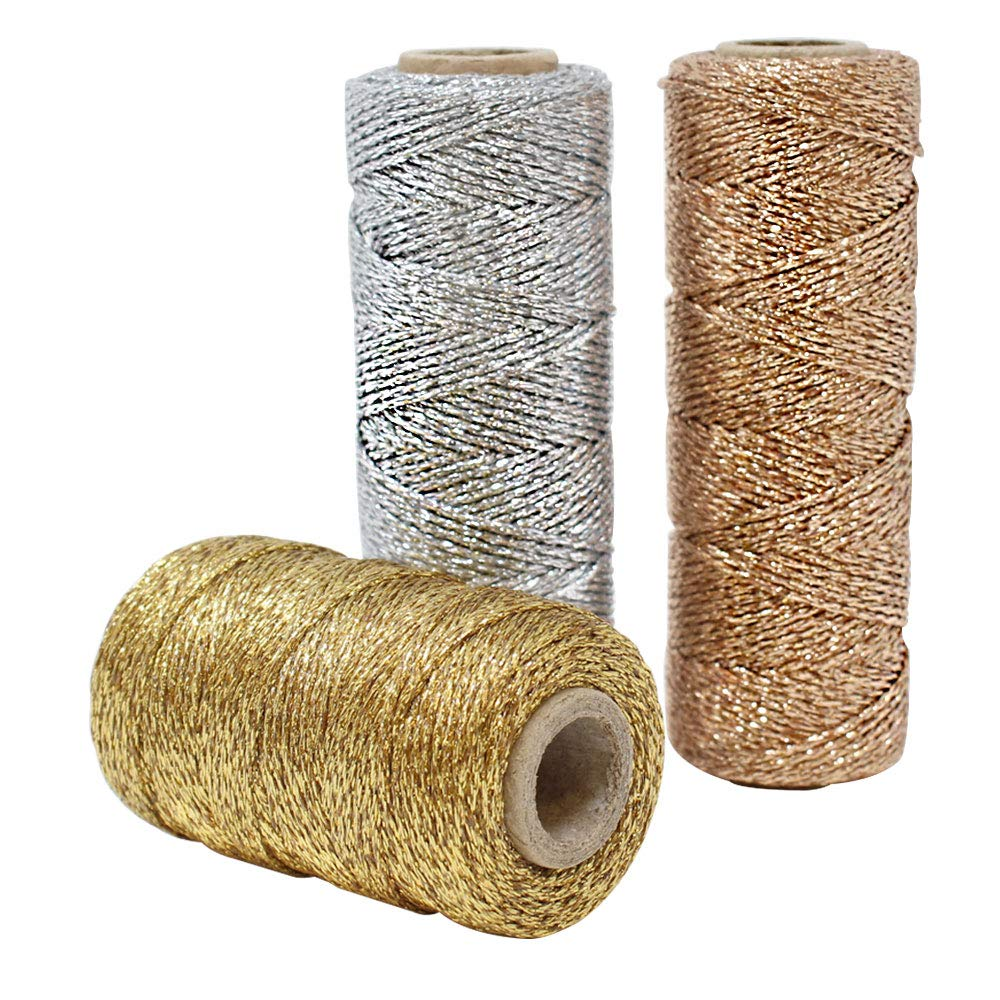 3pcs Assorted Eco Metallic Bakers Twine 55yd 11Ply (Assorted #1) - Premier