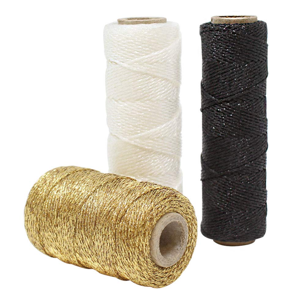 3pcs Assorted Eco Metallic Bakers Twine 55yd 11Ply (Assorted #3) - Premier