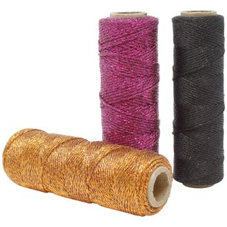 3pcs Assorted Eco Metallic Bakers Twine 55yd 11Ply (Assorted #5) - Premier