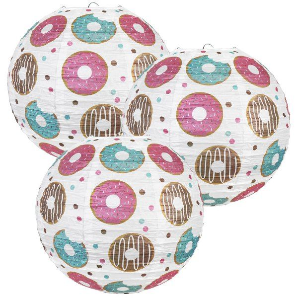 3pcs Chocolate Sprinkle Donuts 12inch Paper Lanterns