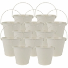 "4""H Metal Crayon/Pencil Holder Favor Bucket Pails (12pcs, Ivory) - Premier"