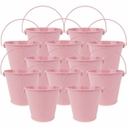 "4""H Metal Crayon/Pencil Holder Favor Bucket Pails (12pcs, Light Pink) - Premier"