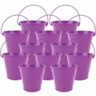 "4""H Metal Crayon/Pencil Holder Favor Bucket Pails (12pcs, Plum) - Premier"