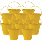 "4""H Metal Crayon/Pencil Holder Favor Bucket Pails (12pcs, Yellow) - Premier"