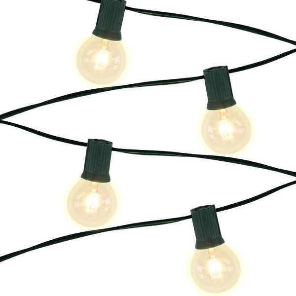 5 Socket 15ft Green Globe String Lights with 407W Bulbs