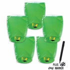 5pcs ECO Wire-Free Flying Chinese Sky Lanterns with Markers (Set of 5, Eclipse, Green) - Premier