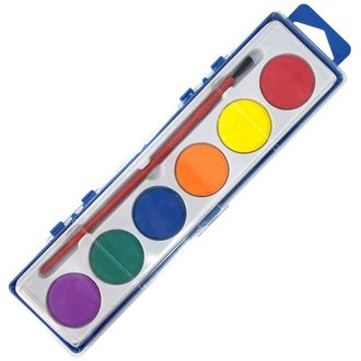 6 Assorted Color Watercolor Paint Tray