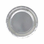 7.25in Round Decorative Dessert Paper Plates (24pcs) - Metallic Silver - Premier