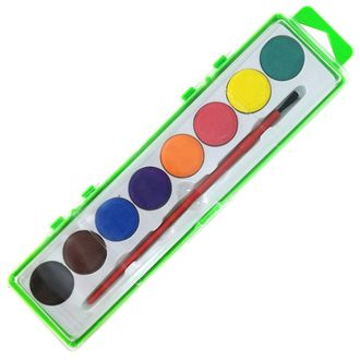 8 Assorted Color Watercolor Paint Tray