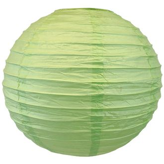 "8"" Pear Green Chinese Japanese Paper Lantern"