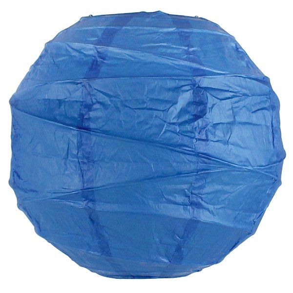 8inch Free Style Paper Lantern Blue