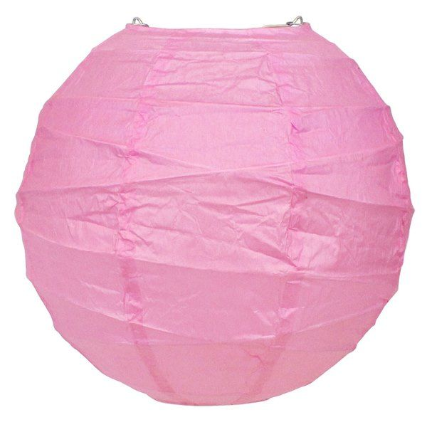 8inch Free Style Paper Lantern Light Pink