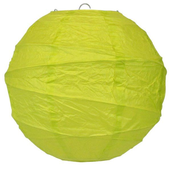 8inch Free Style Paper Lantern Yellow Green