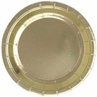 9in Round Decorative Paper Plates (24pcs) - Metallic Gold - Premier