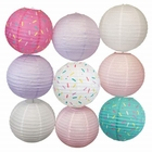 9pc Donut Party 12inch Sprinkles Paper Lanterns (Assorted #1) - Premier