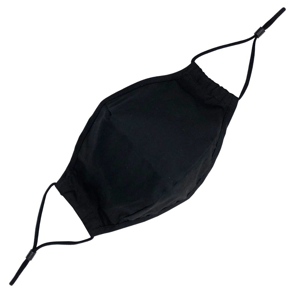 Adult Cloth Face Mask Black with Filter Pocket
