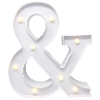 Ampersand White 12in LED Battery Operated Light