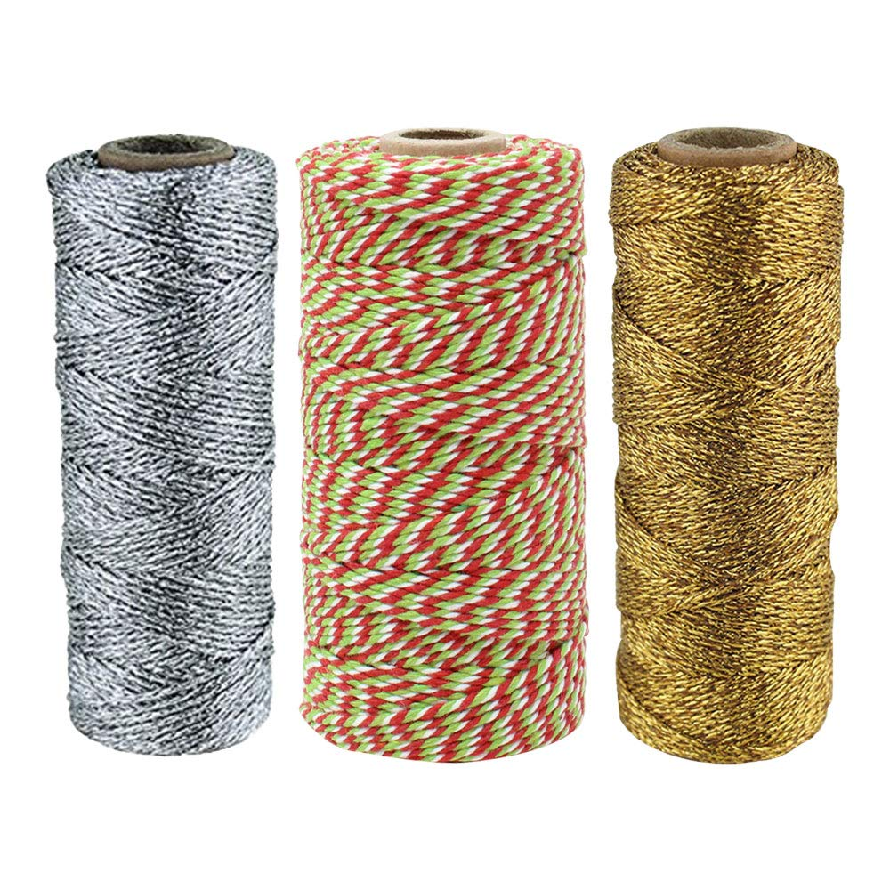 Assorted Christmas Themed Bakers Twine 11ply/12ply 55-yards/110-yards (3pc) - Premier