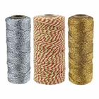 Assorted Christmas Themed Bakers Twine 11ply 12ply 55yd 110yd (3pc)  - Premier