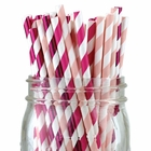 Assorted Color & Pattern 100pcs Premium Biodegradable Party Paper Straws � Metallic Pink/Pinks - Premier