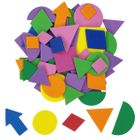 Assorted Foam Craft Sticker Geometric Shapes 35pcs