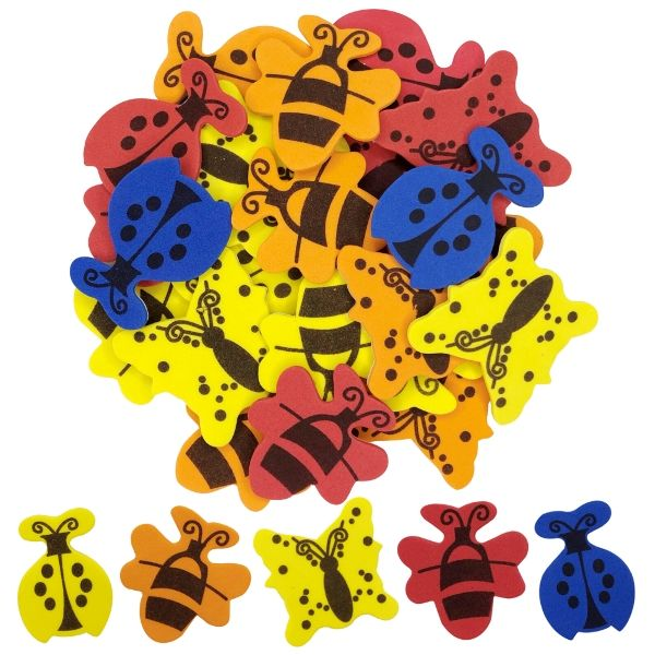 Assorted Foam Craft Sticker Insects 35pcs