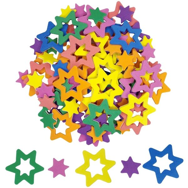 Assorted Foam Craft Sticker Stars 35pcs