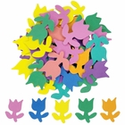 Assorted Foam Craft Sticker Tulips 35pcs