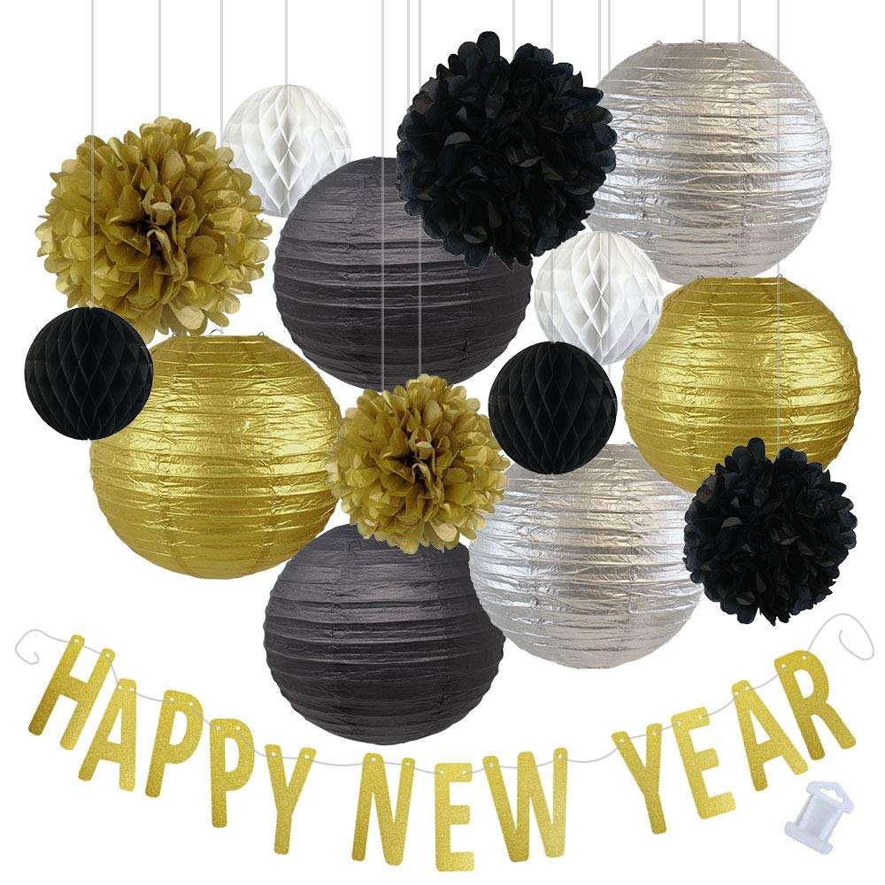 Assorted New Years Eve Party Pack Decorations (Color: Happy New Year) - Premier