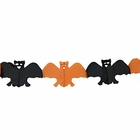 Bad Bats Expandable Tissue Paper Garland Party Streamers (6 Pack, Orange/Black) - Premier