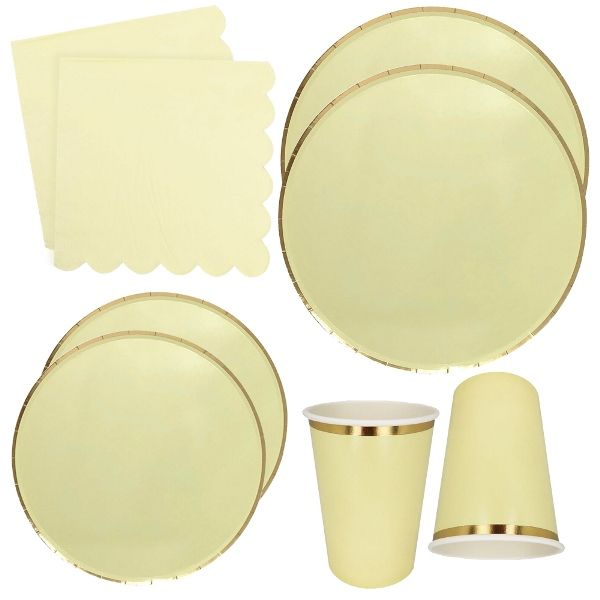 Banana Yellow Tableware Kit 44pcs - Premier