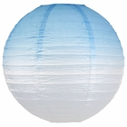 Beachy Blue Ombre 12inch Paper Lantern