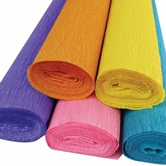 Birthday Bash Assorted Crepe Paper Roll Package 5pcs