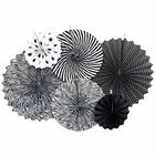 Black and White Paper Pinwheel Decorating Kit 6pcs