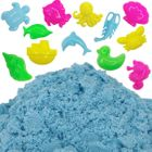 Blue 1lb Sensory Play Sand with 12 Aquatic Molds