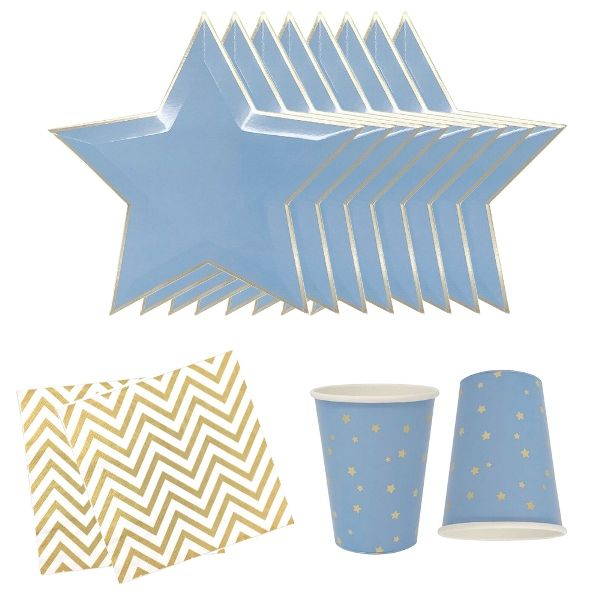 Blue Stars Tableware Kit 36pcs - Premier
