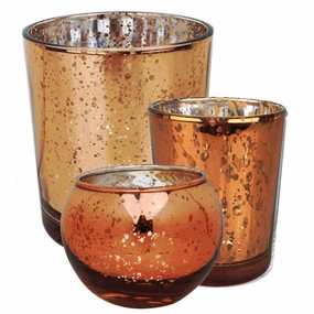 Bronze Glass Votive Candle Holders