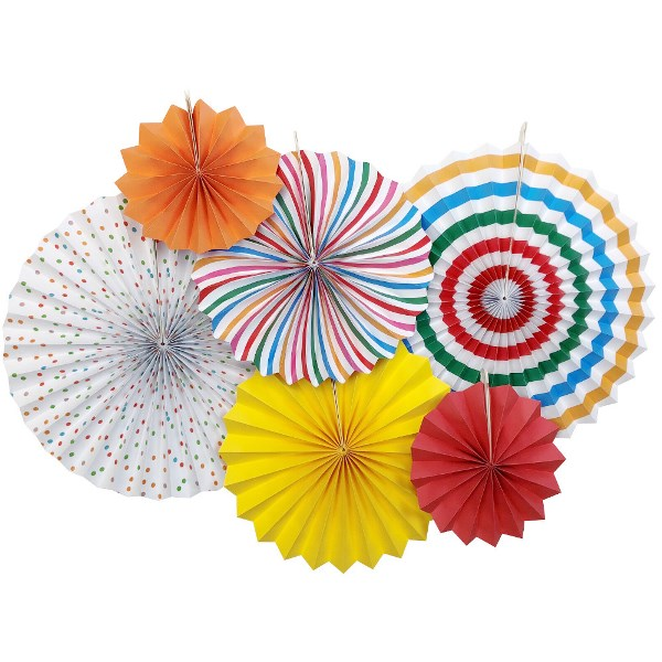 Carousel Paper Pinwheel Decorating Kit 6pcs